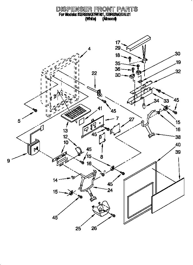 Refrigerators Parts: Kitchenaid Superba Refrigerator Parts