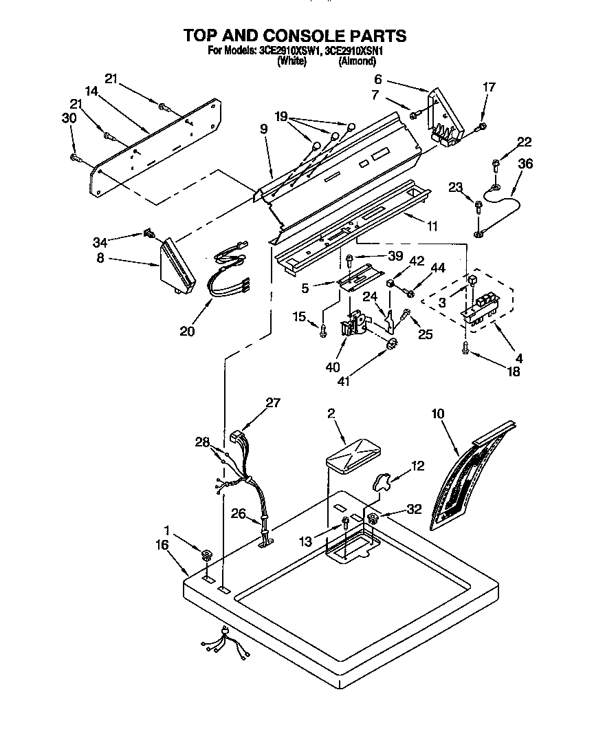 medium resolution of whirlpool 3ce2910xsw1 dryer wiring diagram