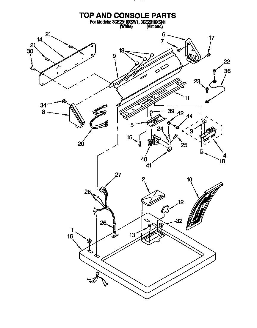 hight resolution of whirlpool 3ce2910xsw1 dryer wiring diagram