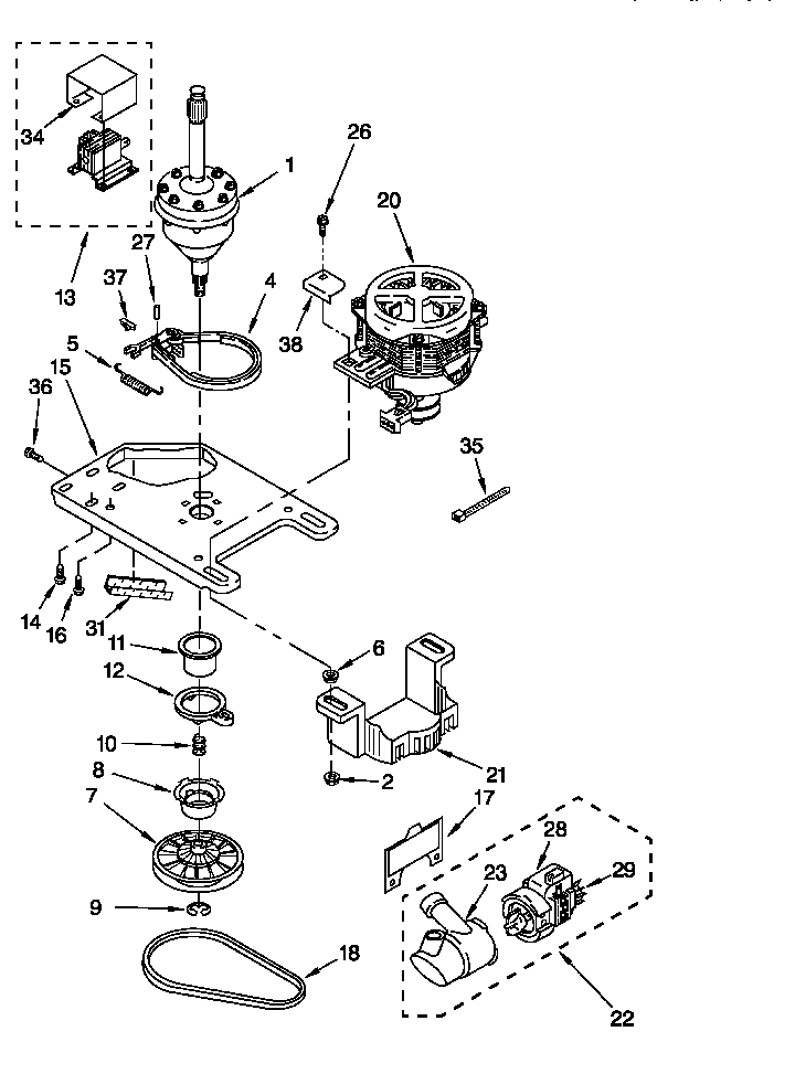 Kenmore 90 Series Washer Diagram And Parts List, Kenmore