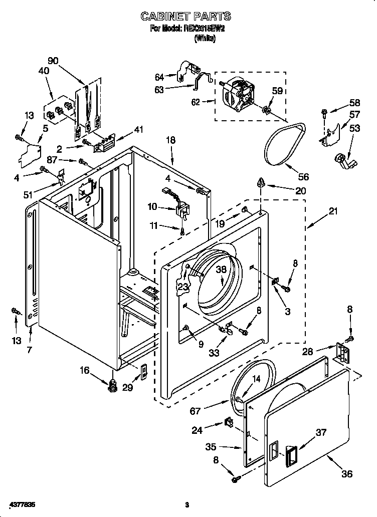 Electric Dryer: Roper Electric Dryer Parts