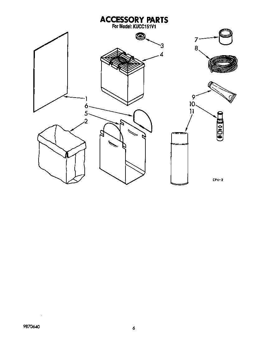 ACCESSORY Diagram & Parts List for Model kucc151v1