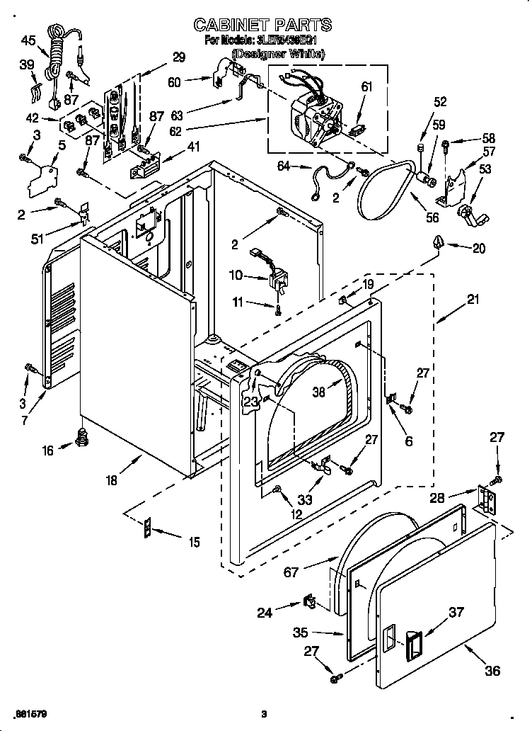CABINET Diagram & Parts List for Model 3ler5436eq1