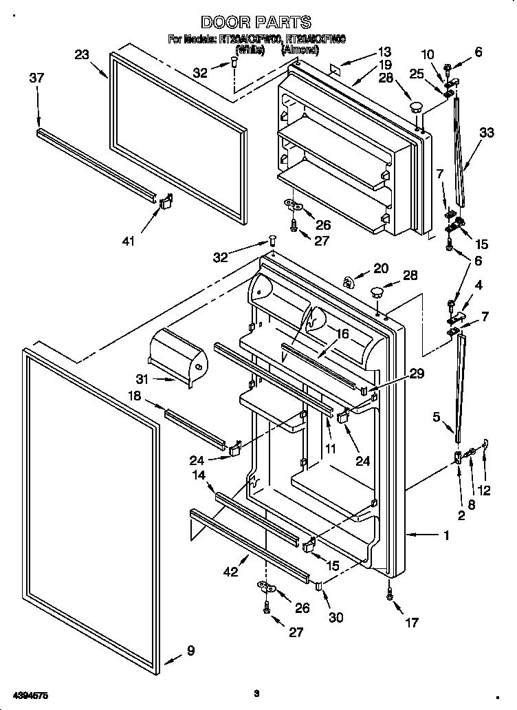 Refrigerators Parts: Roper Refrigerator