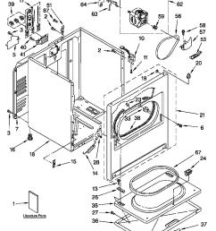 estate electric dryer cabinet parts model teds780jq0 [ 848 x 1155 Pixel ]