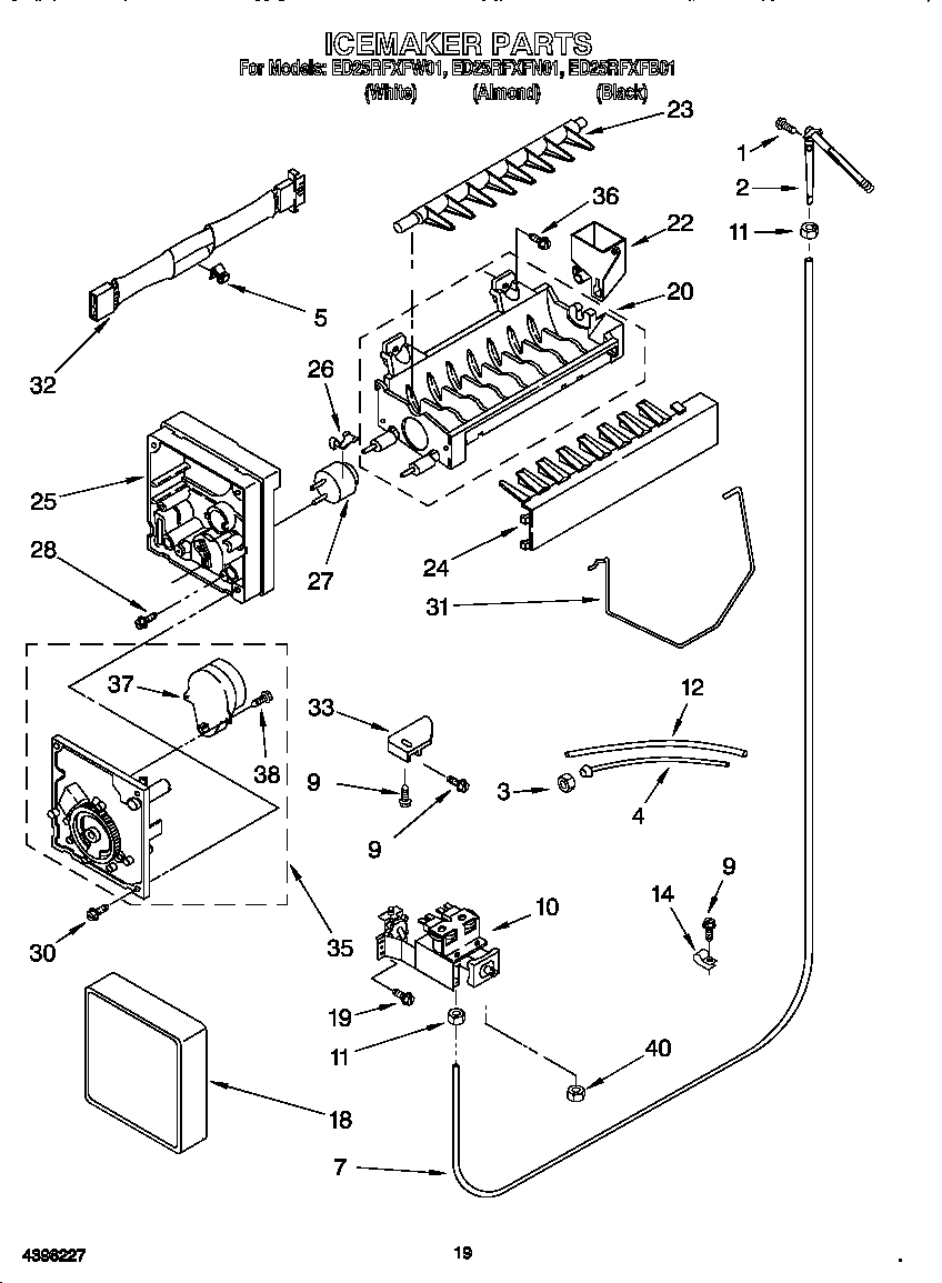 hight resolution of ice maker diagram