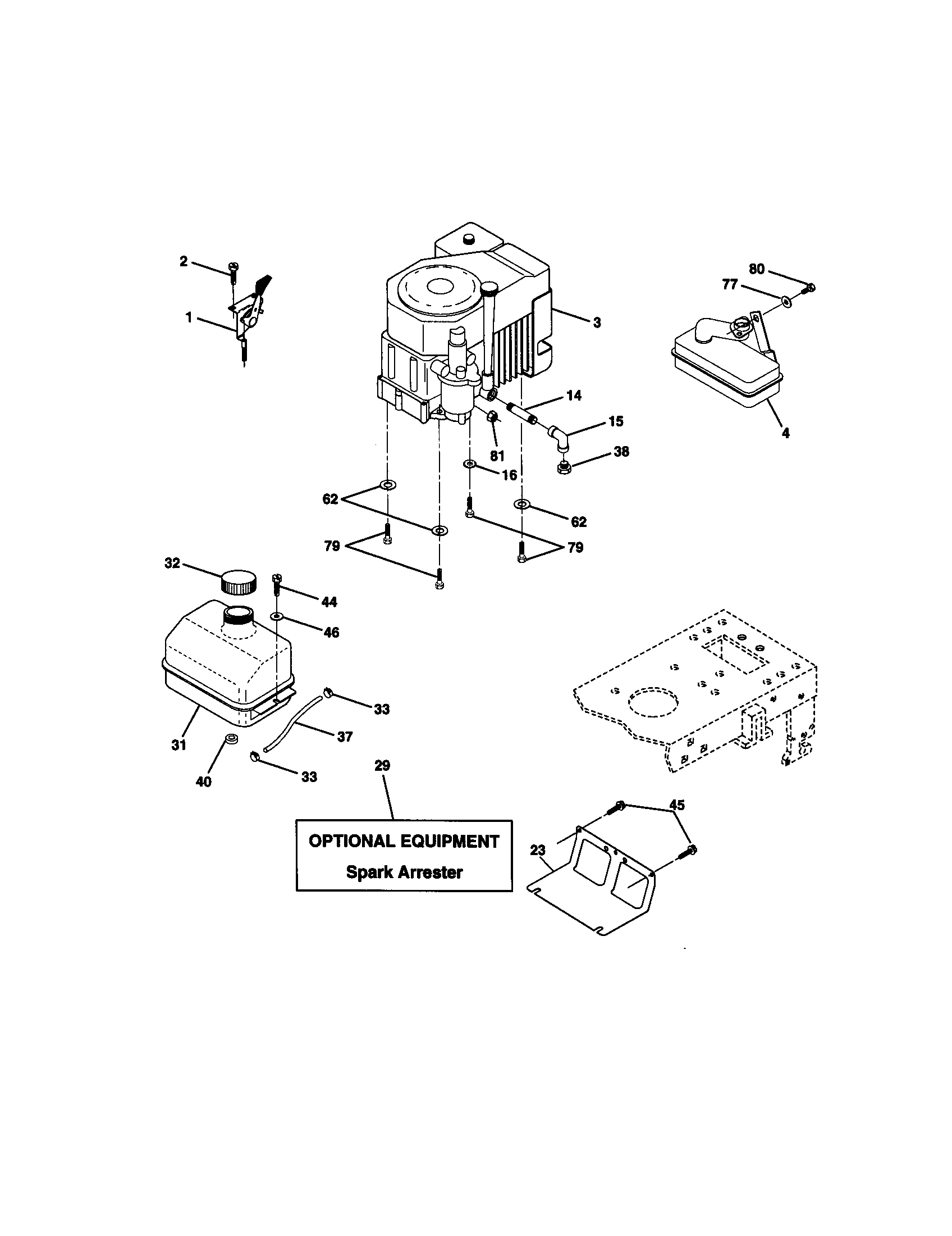 Craftsman craftsman 15 5hp 42 automatic lawn tractor parts model 917271060 sears partsdirect