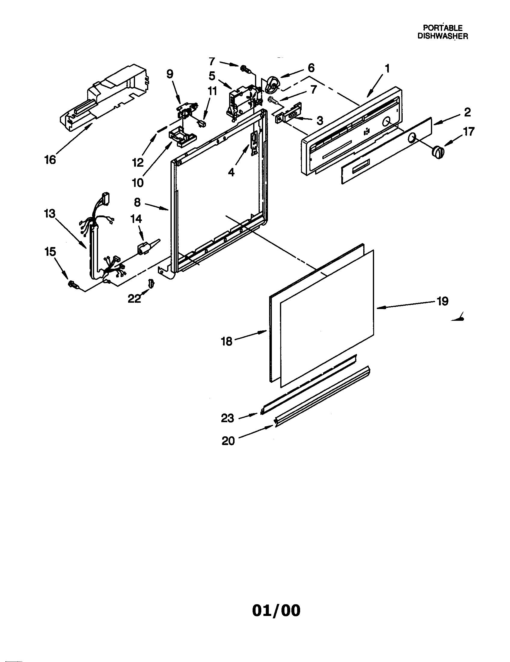 WHIRLPOOL PORTABLE DISHWASHER Parts  Model DP840DWGX1  Sears PartsDirect