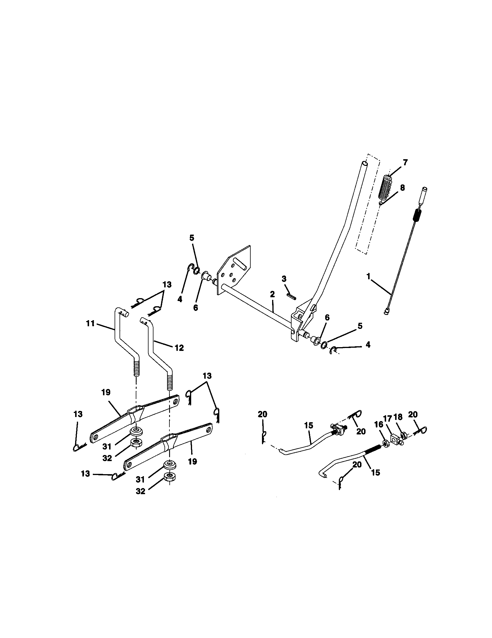 hight resolution of craftsman 917270654 lift assembly diagram