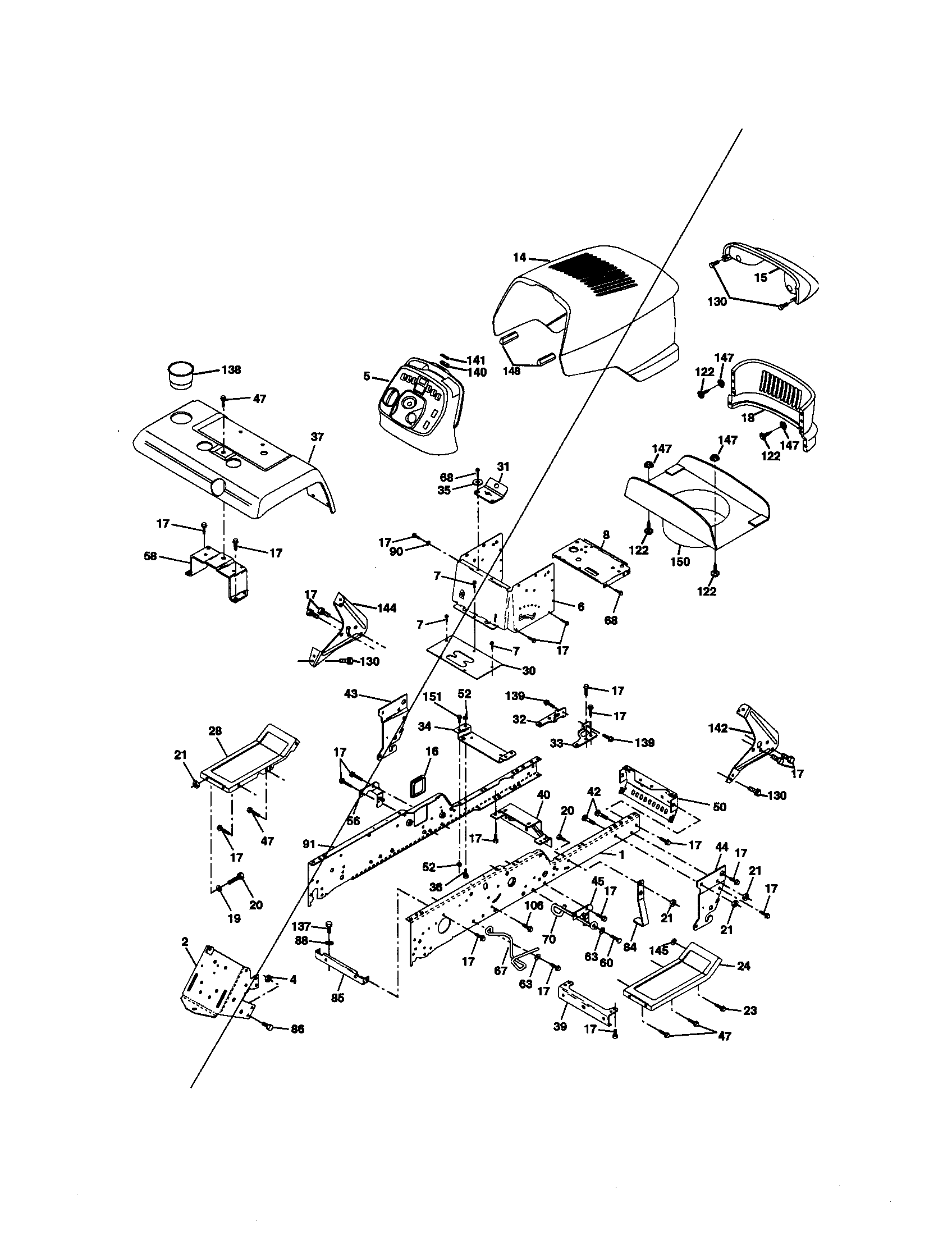 hight resolution of craftsman 917272950 chassis and enclosures diagram