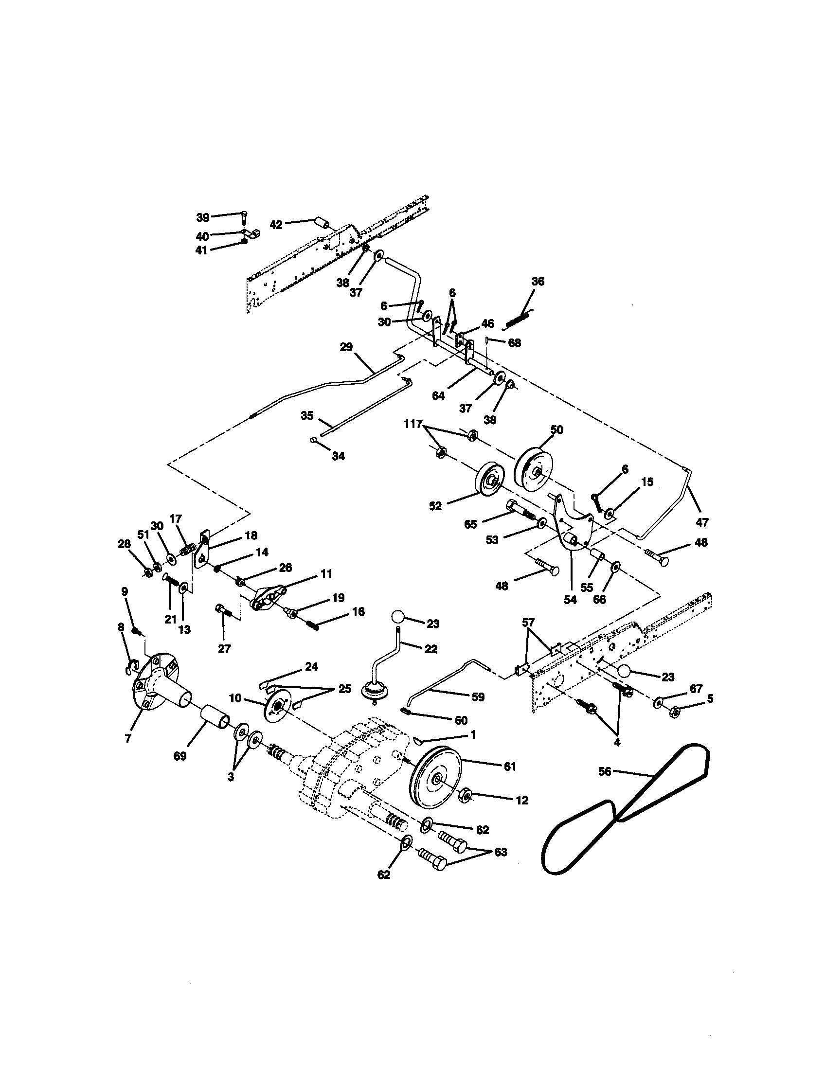 hight resolution of craftsman 917272950 ground drive diagram