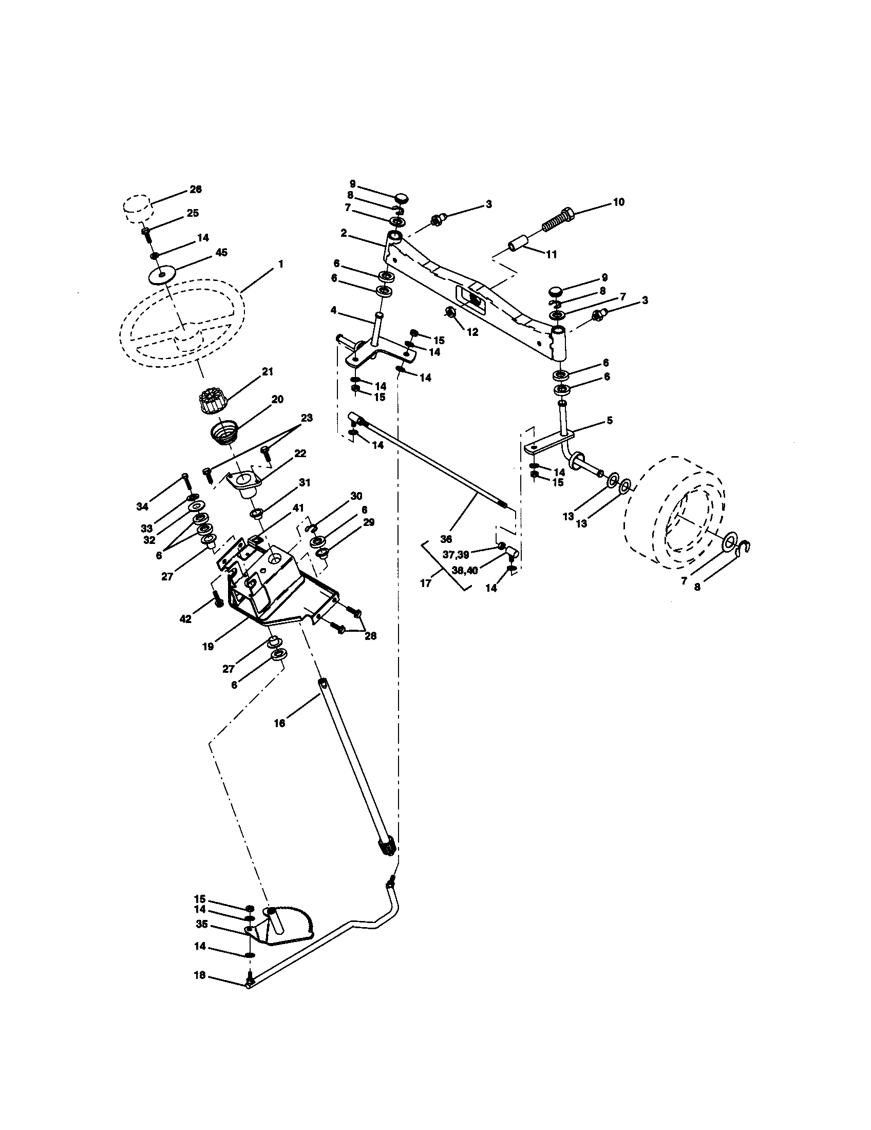 hight resolution of craftsman 917272950 steering assembly diagram
