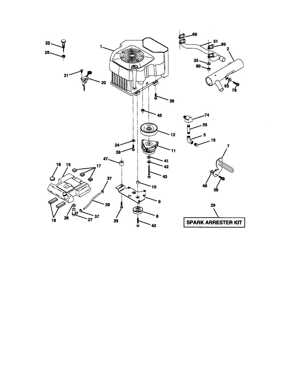 medium resolution of craftsman 917272950 engine diagram