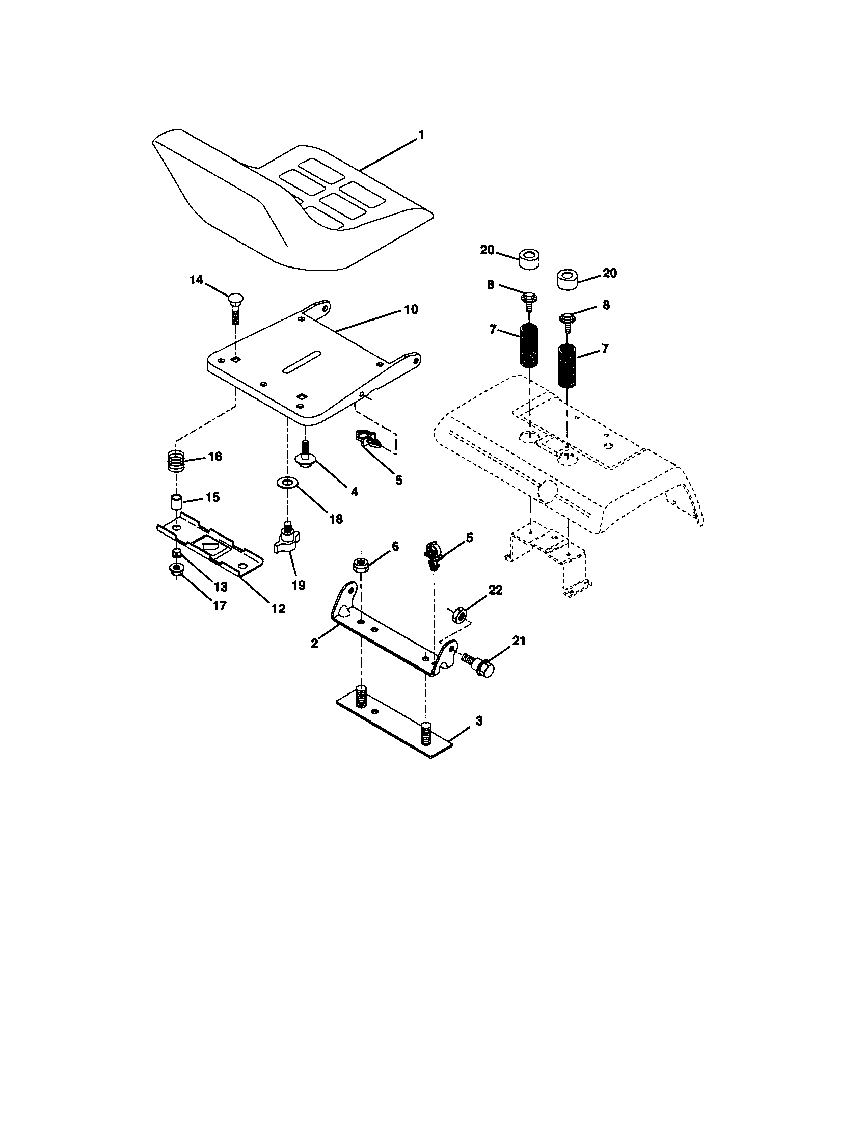 hight resolution of craftsman 917272950 seat assembly diagram