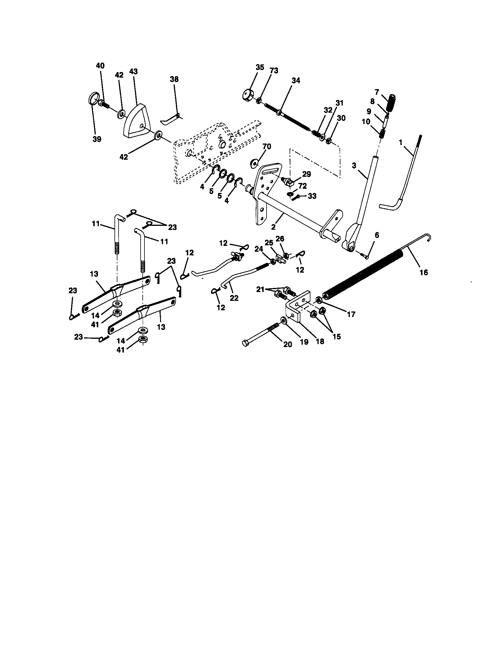 hight resolution of craftsman 917272950 lift assembly diagram