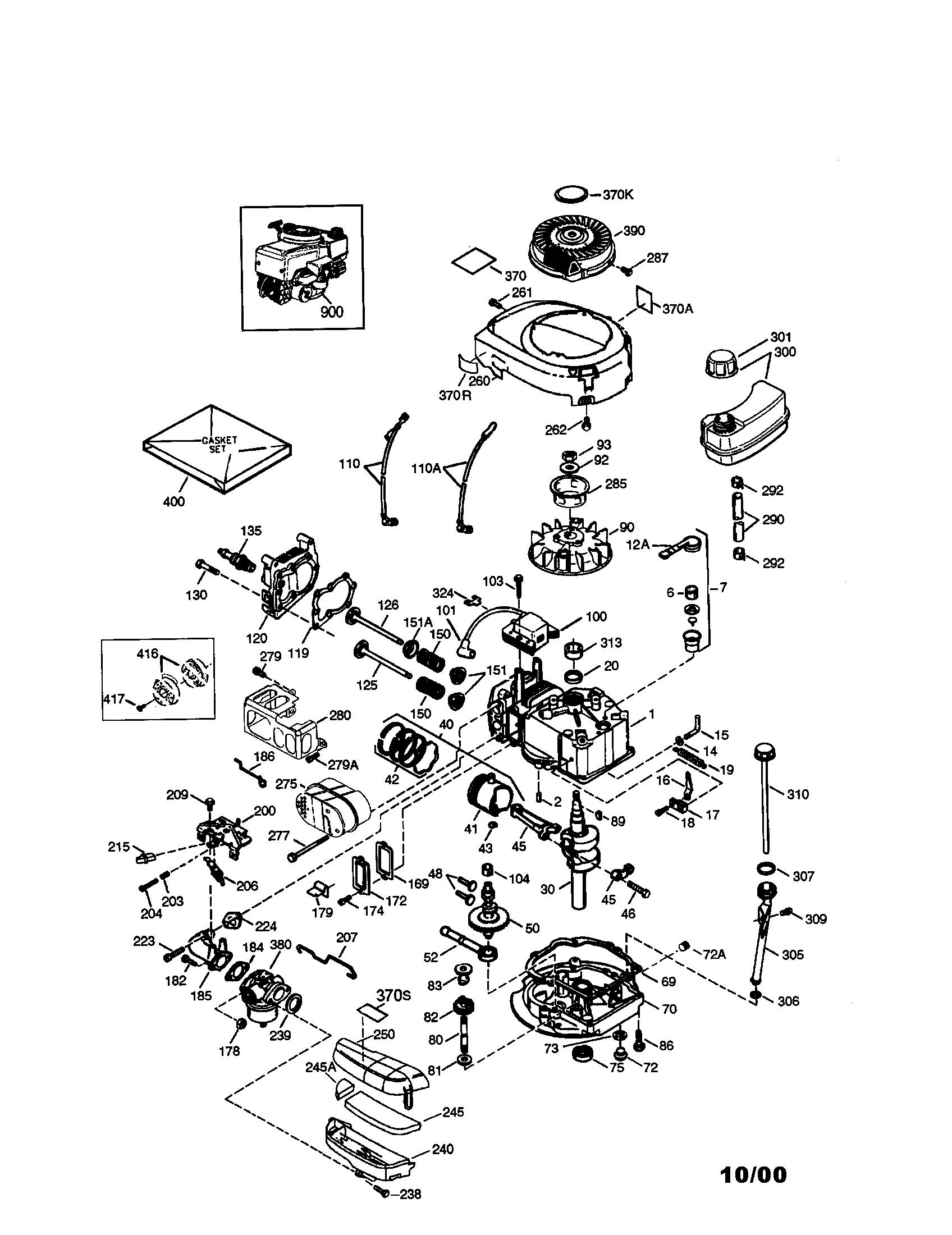 Craftsman model 143004500 engine genuine parts p0010532 00001 1503500html engine carburetor diagram engine carburetor diagram