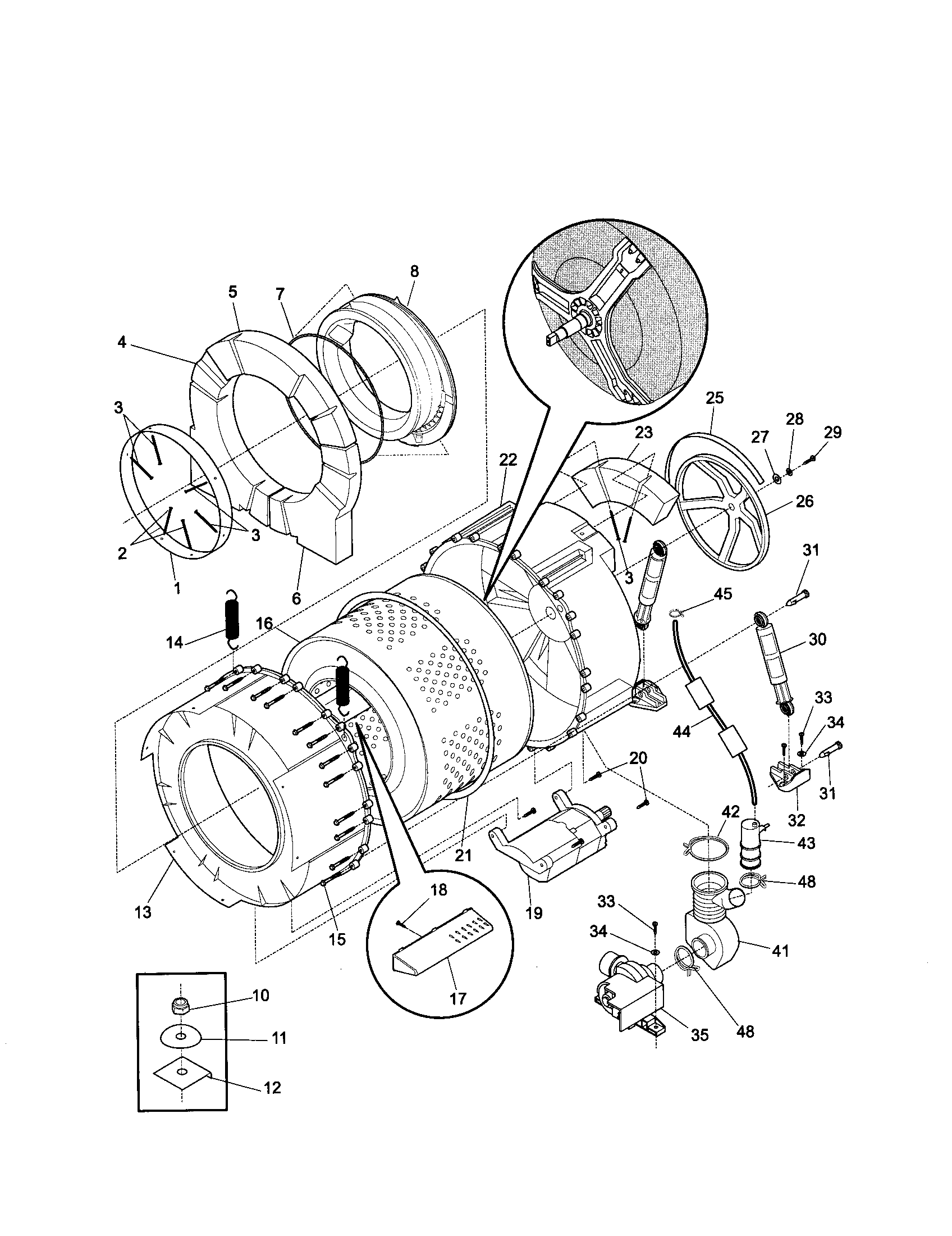 frigidaire front load washer parts diagram wiring electric guitar replacement schematic kenmore model 41729042992 residential washers genuine