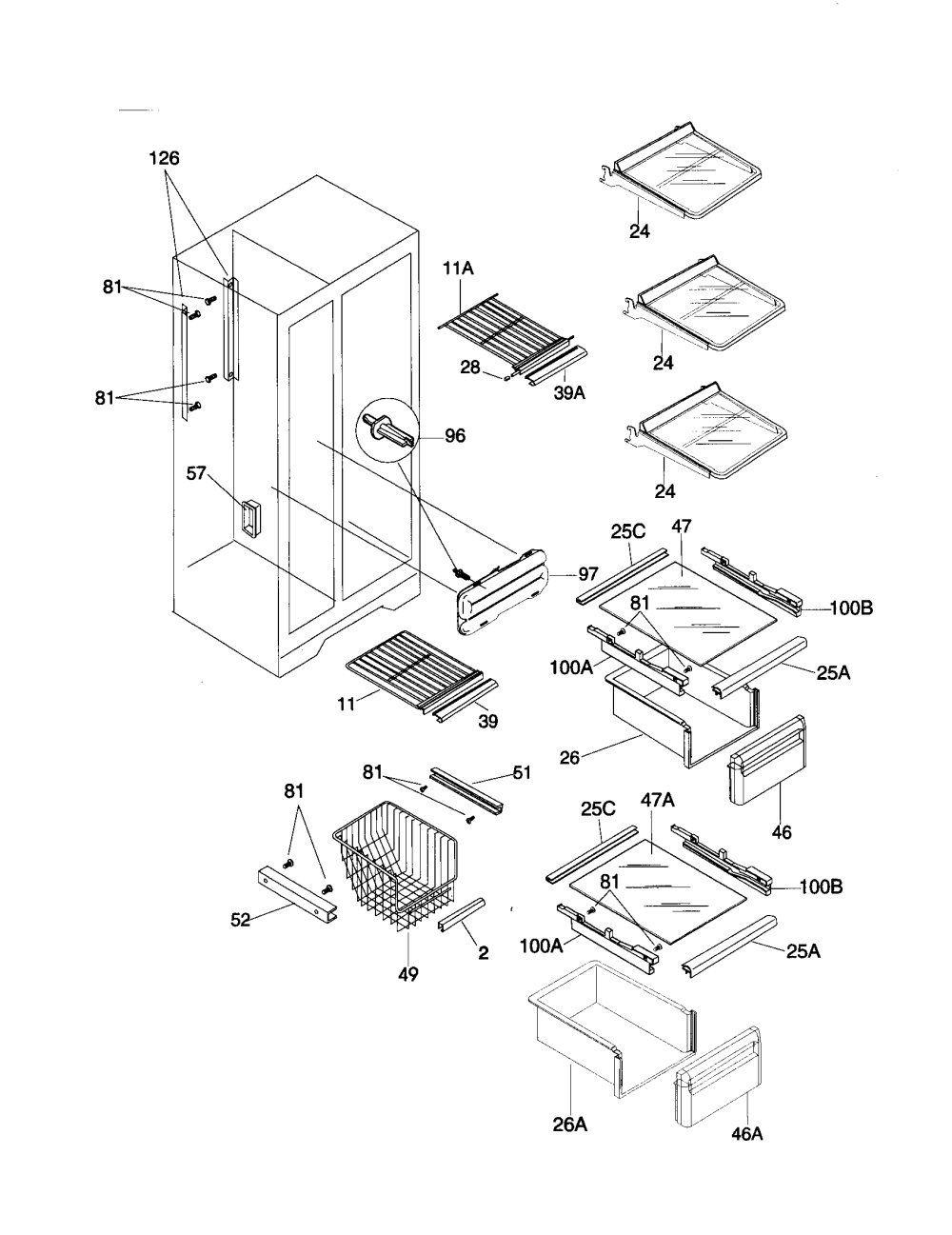 medium resolution of side by side refrigerator parts on ge side by side wiring diagram