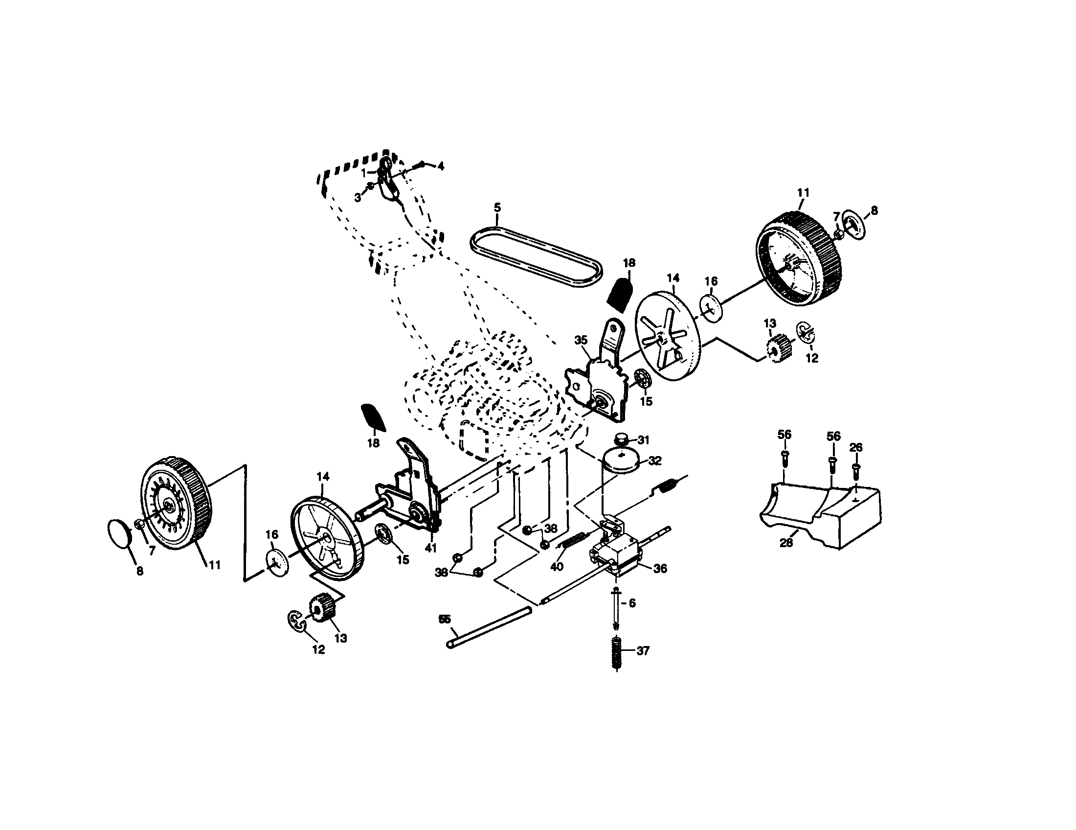 WHEEL AND TIRE ASSEMBLY Diagram & Parts List for Model