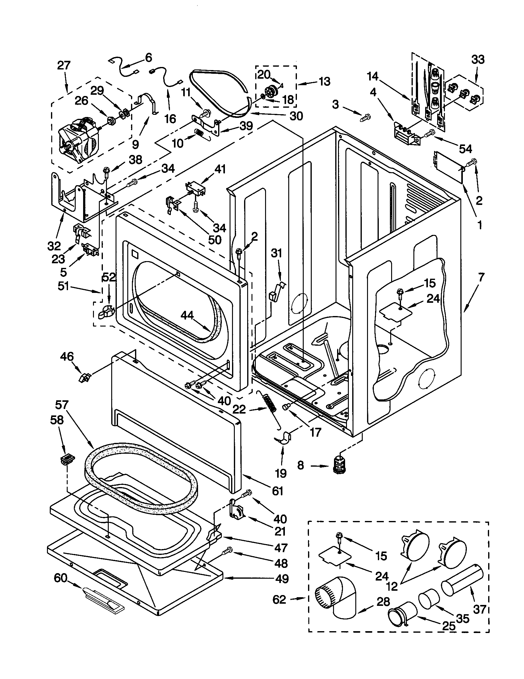 CABINET Diagram & Parts List for Model 11060902990 Kenmore