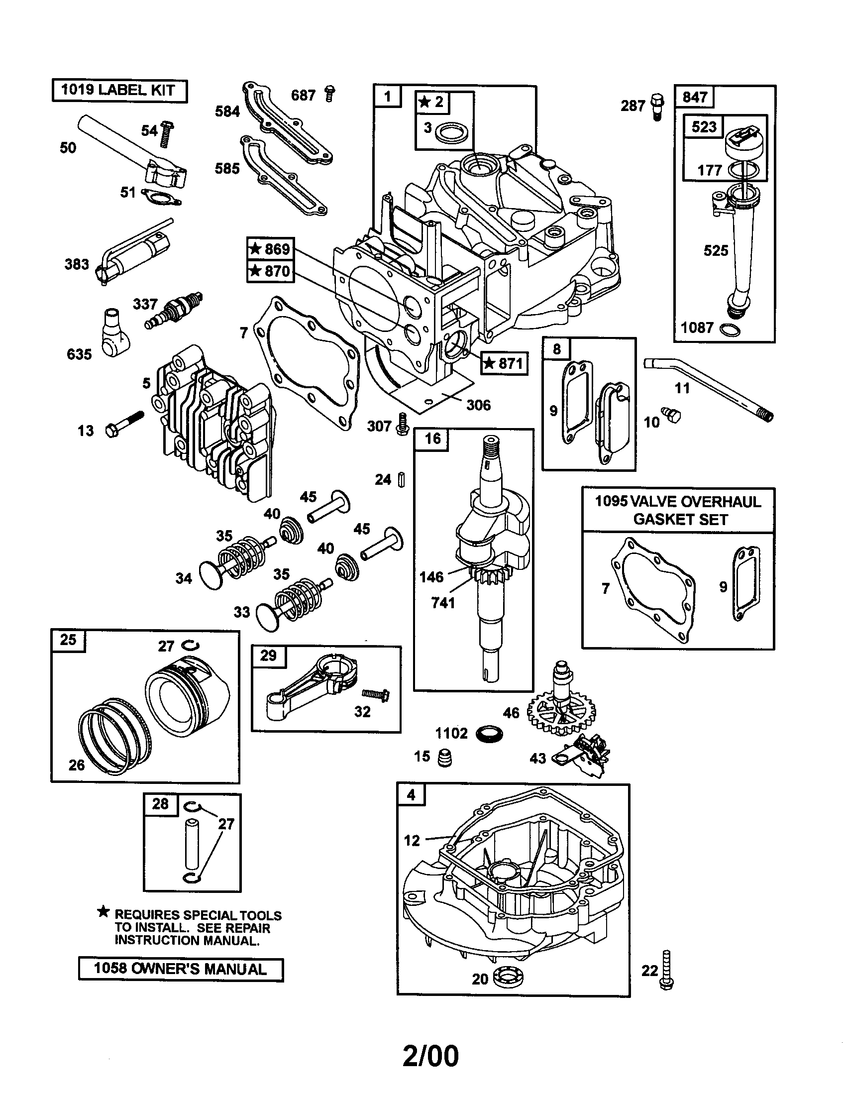 briggs and stratton engine parts diagram of spine discs model 12h802 2682 b1