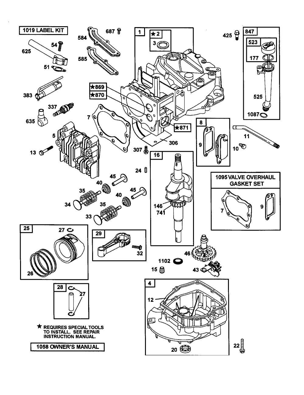 medium resolution of craftsman gt5000 engine diagram auto electrical wiring diagram briggs u0026 stratton engine parts