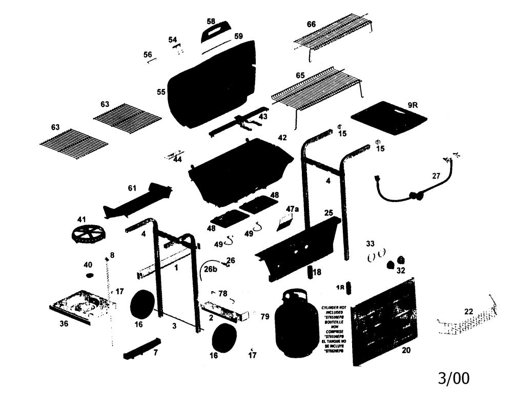 medium resolution of weber performer parts diagram