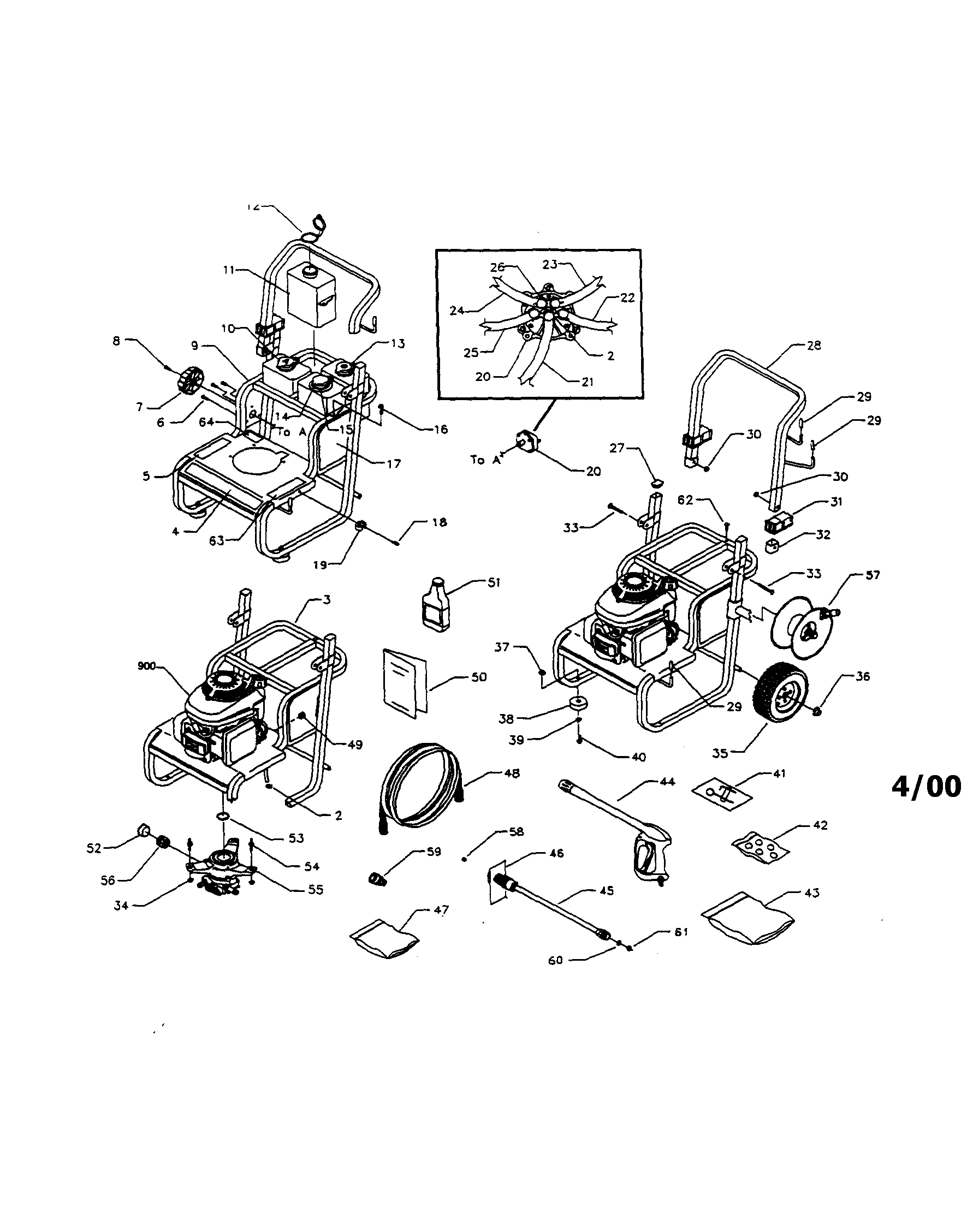 Honda Gcv160 Pressure Washer Pump Parts Diagram