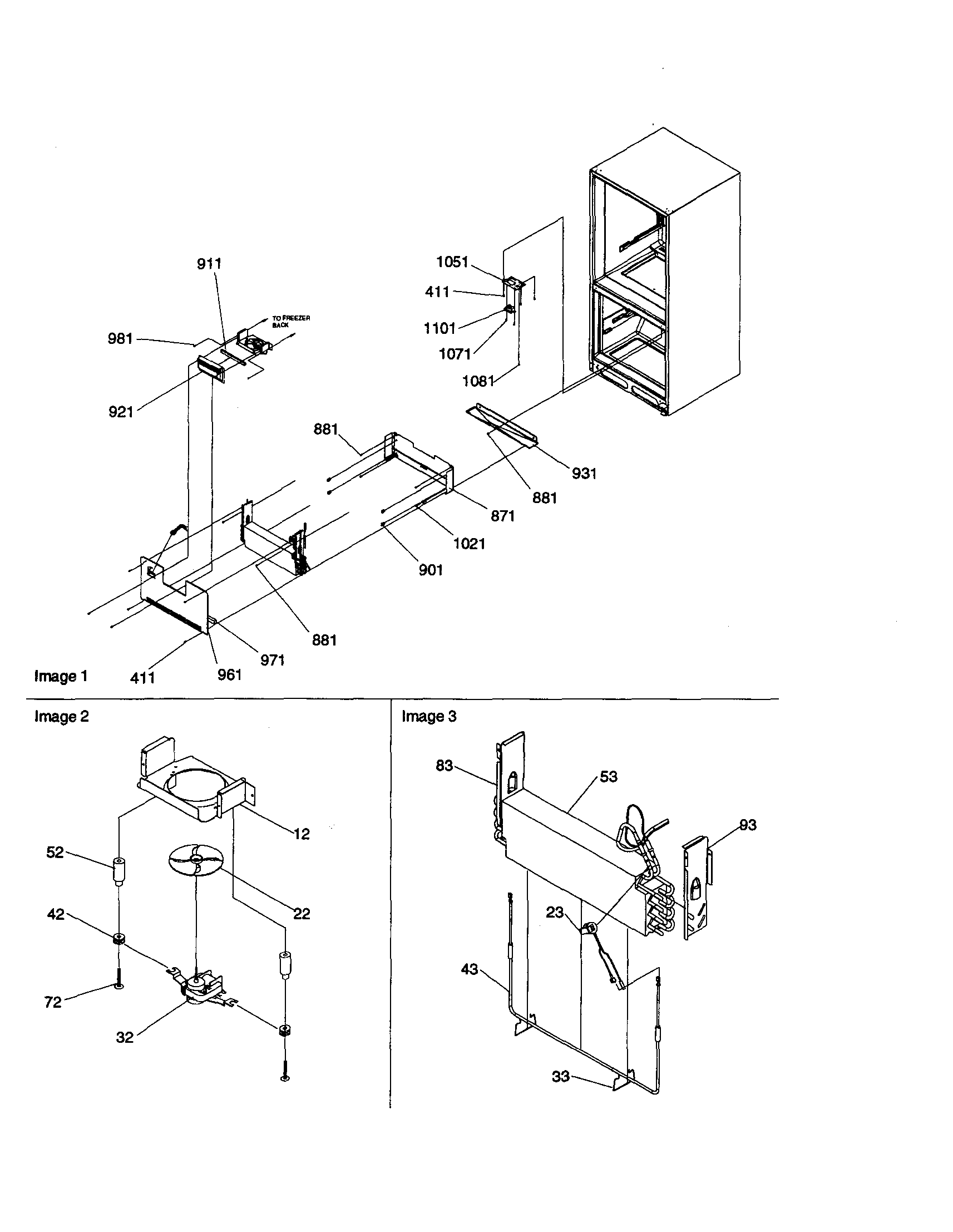 EVAPORATOR/FREEZER CONTROL ASSEMBLY Diagram & Parts List