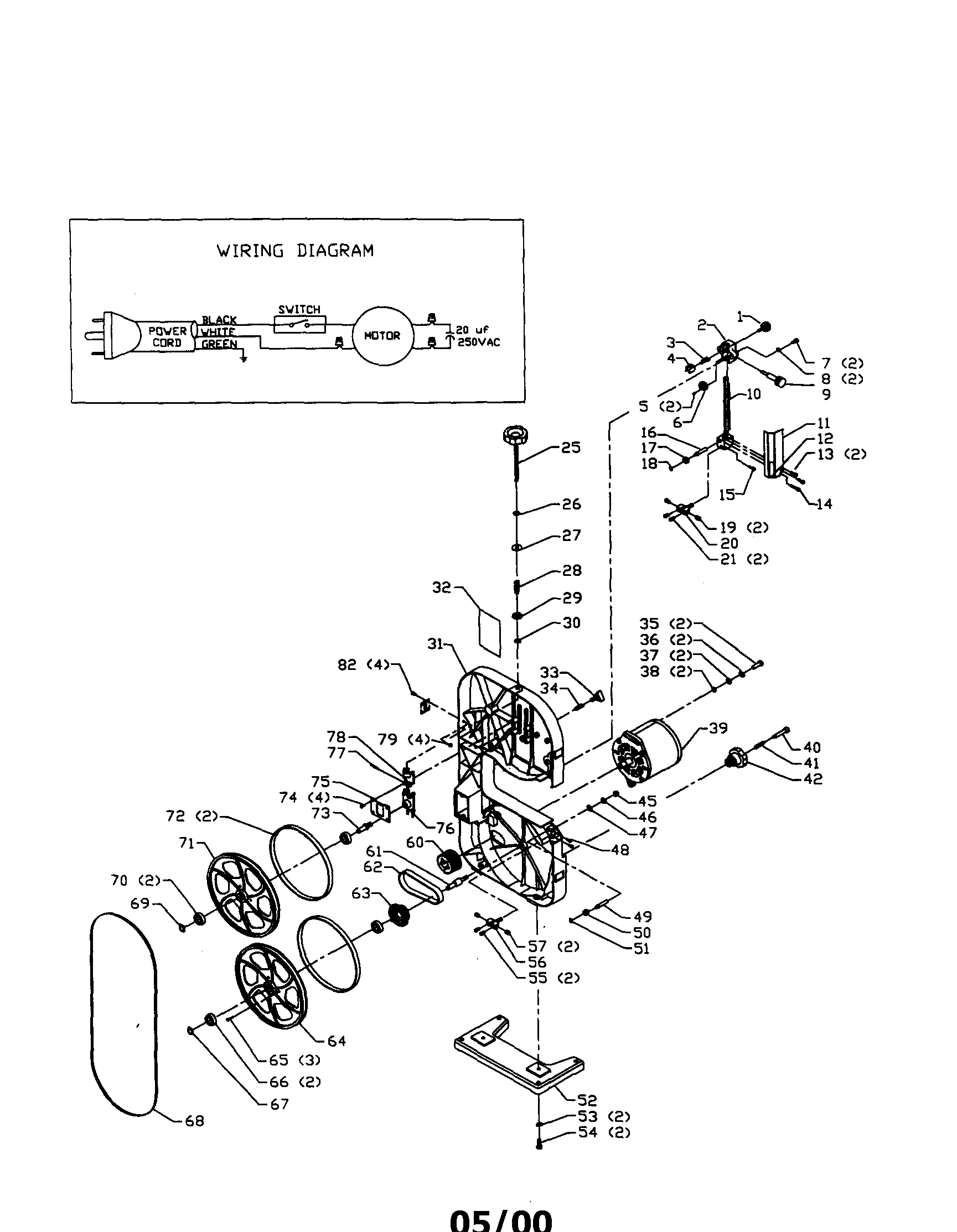 hight resolution of delta 28 150 band saw diagram