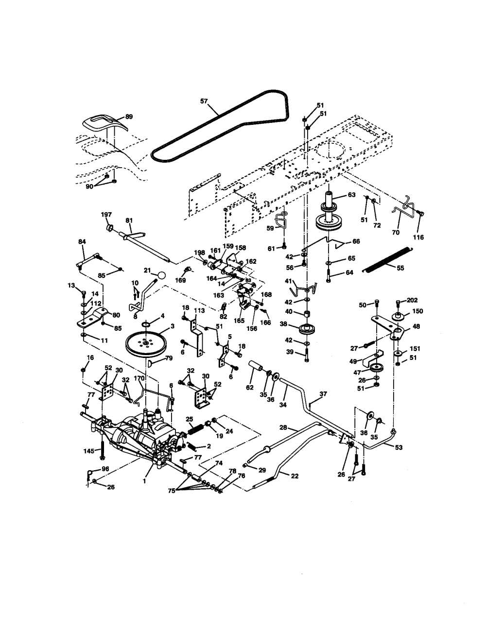 medium resolution of craftsman 917270671 ground drive diagram