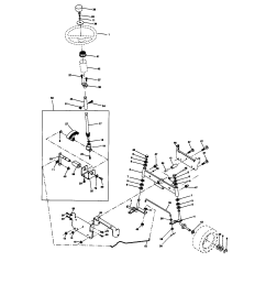 craftsman 917270671 steering assembly diagram [ 1696 x 2200 Pixel ]