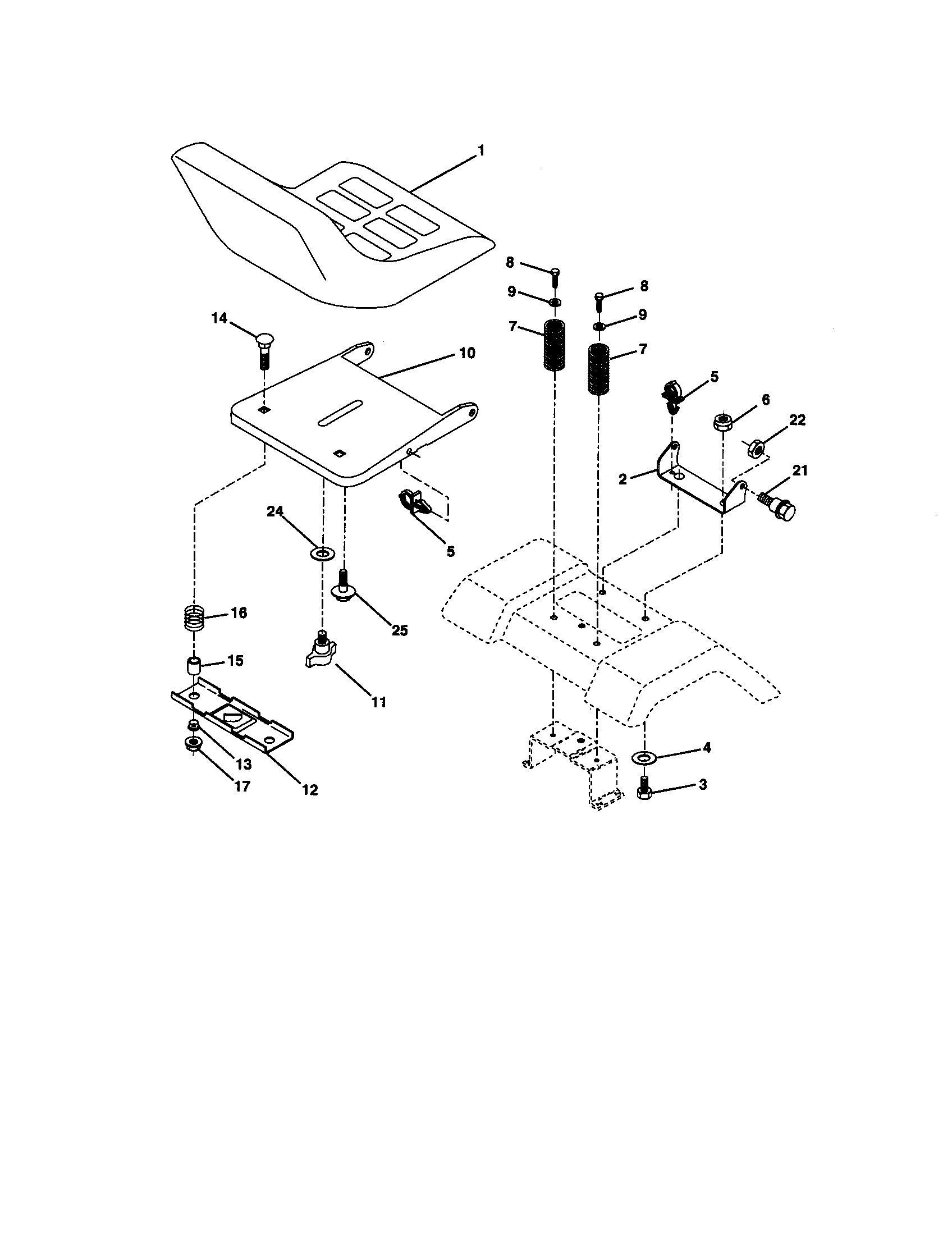 hight resolution of craftsman 917270671 seat assembly diagram