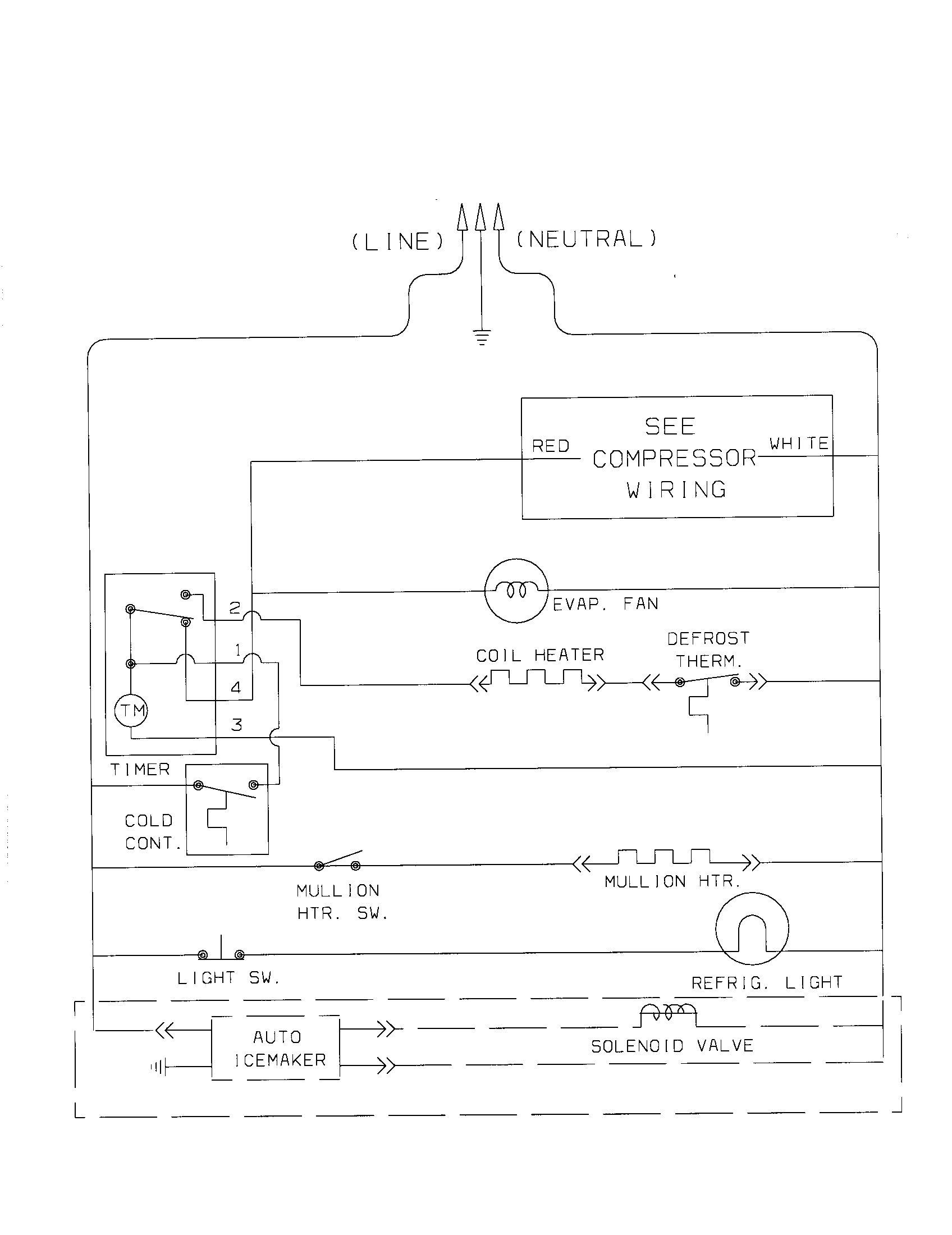 Wiring Diagram For Kenmore RefrigeratorWiring Diagram