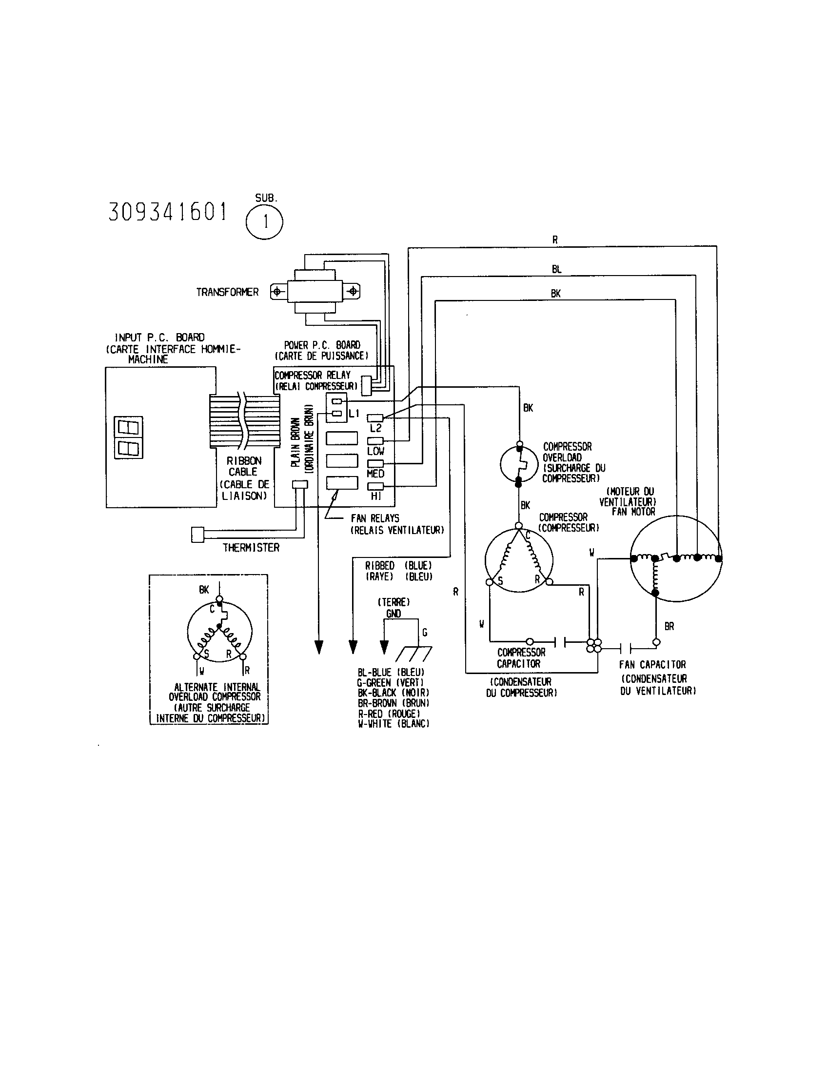 WIRING DIAGRAM Diagram & Parts List for Model 25371055000