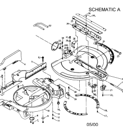 craftsman 137285540 12 sliding compound miter saw diagram [ 2200 x 1696 Pixel ]