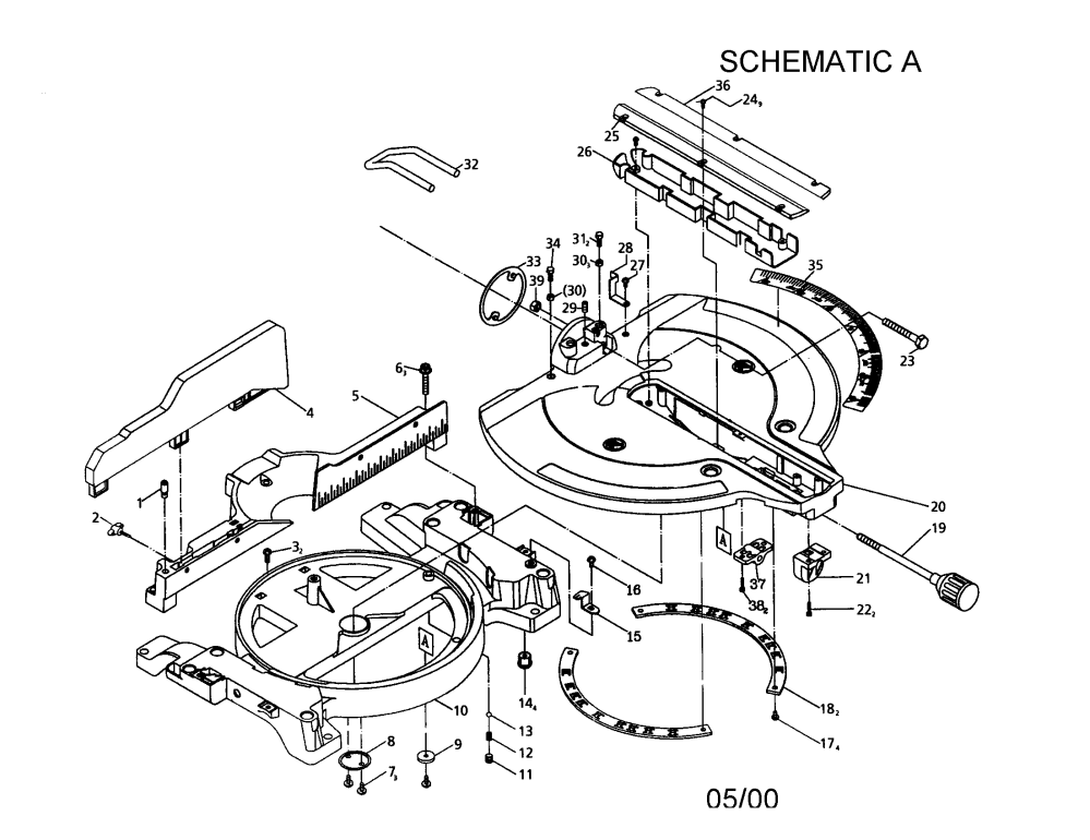 medium resolution of craftsman 137285540 12 sliding compound miter saw diagram