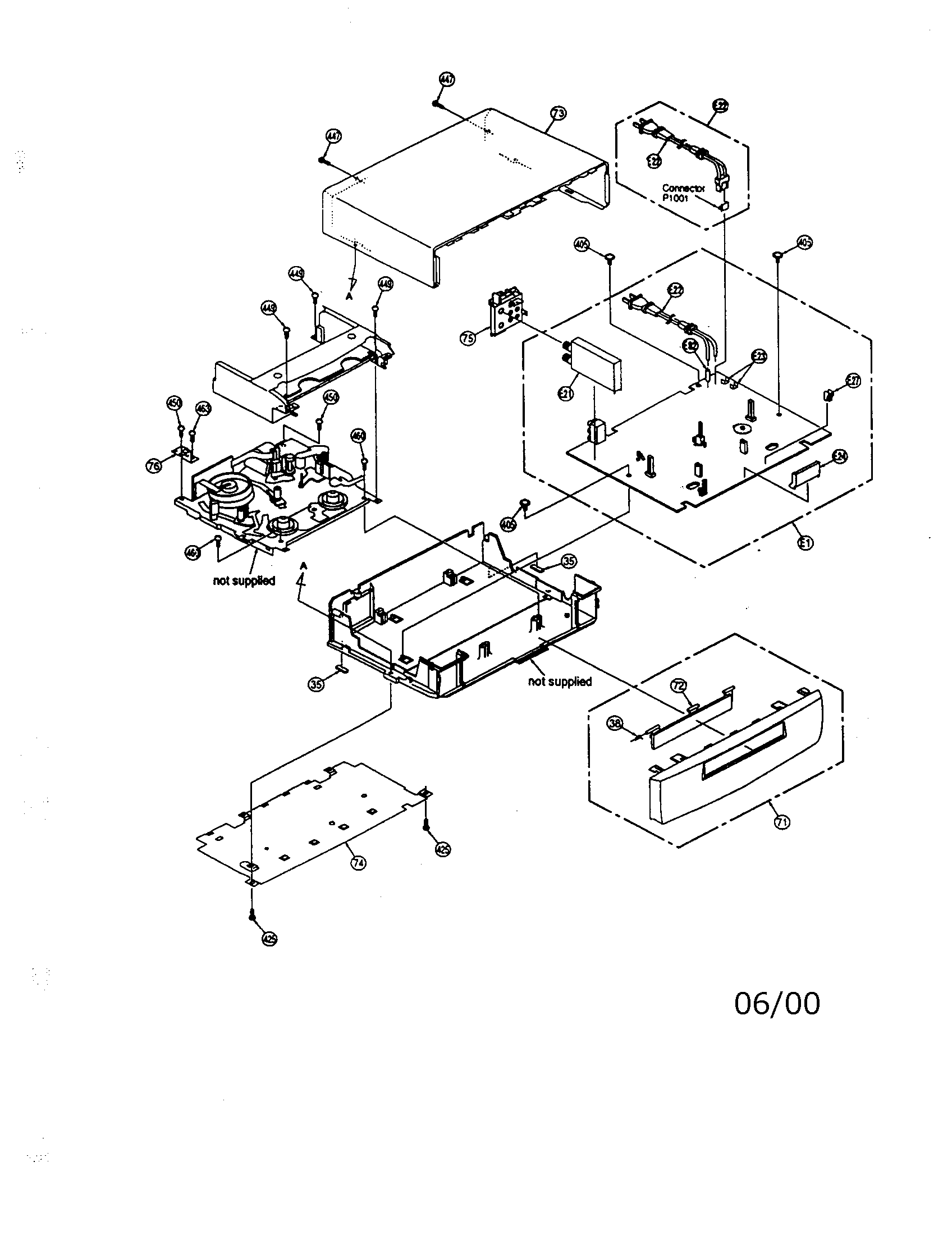 VCR Diagram & Parts List for Model pv-v4520-k Panasonic