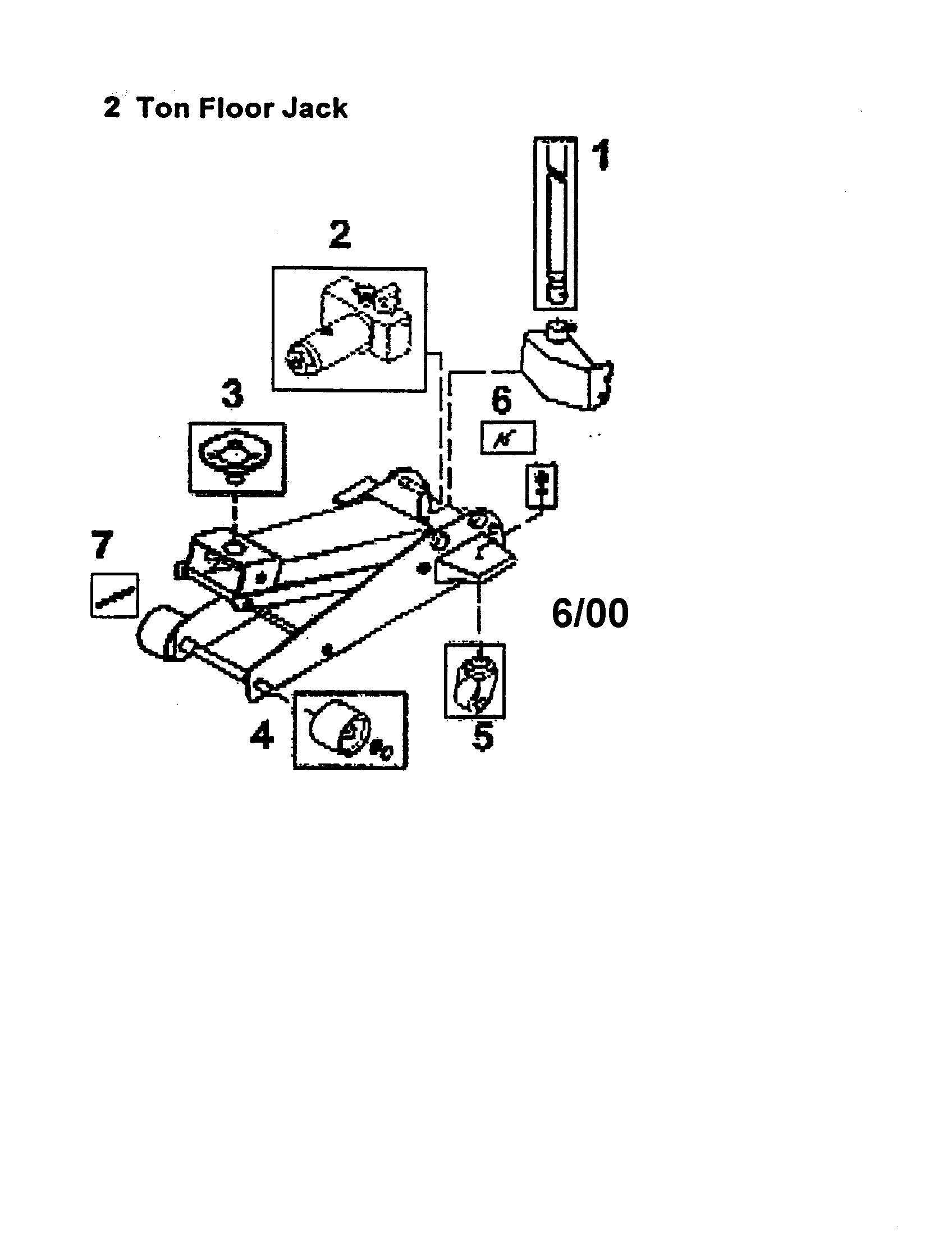 Walker Bottle Jack Parts Diagram, Walker, Free Engine