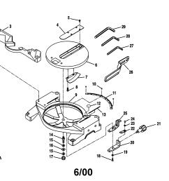 craftsman 10 u0026quot compound miter saw parts [ 2200 x 1696 Pixel ]