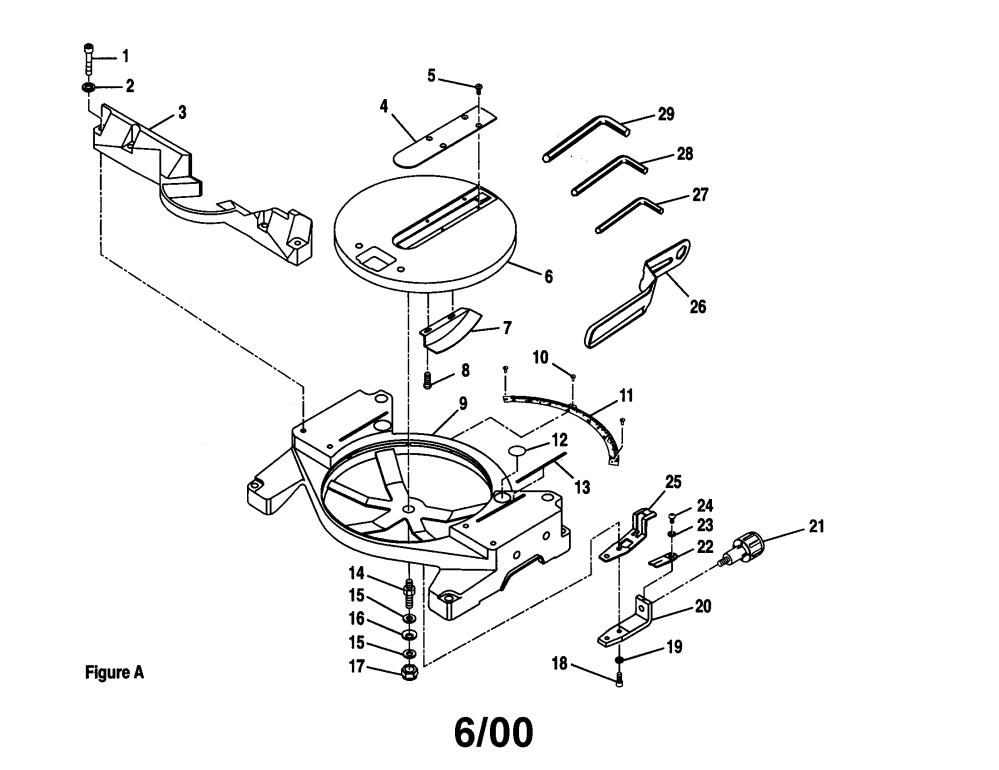 medium resolution of craftsman 10 u0026quot compound miter saw parts