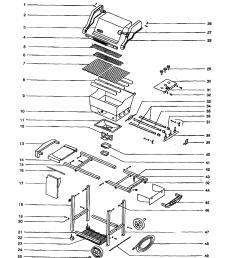 weber genesis silver b ng gas grill diagram [ 1733 x 2230 Pixel ]