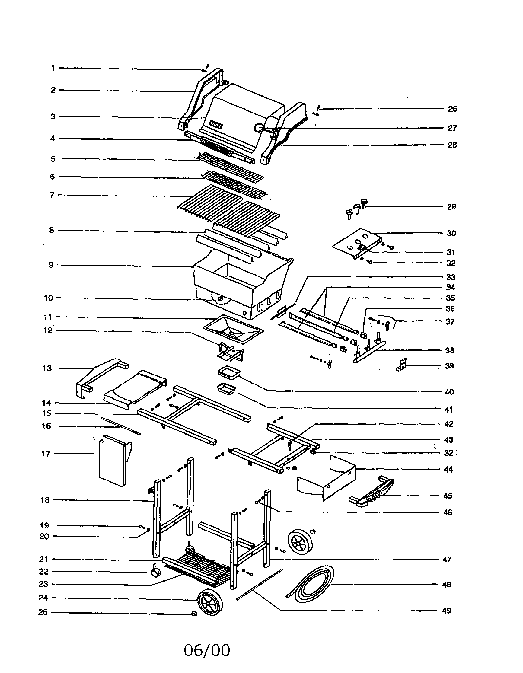 hight resolution of weber genesis silver b ng gas grill diagram