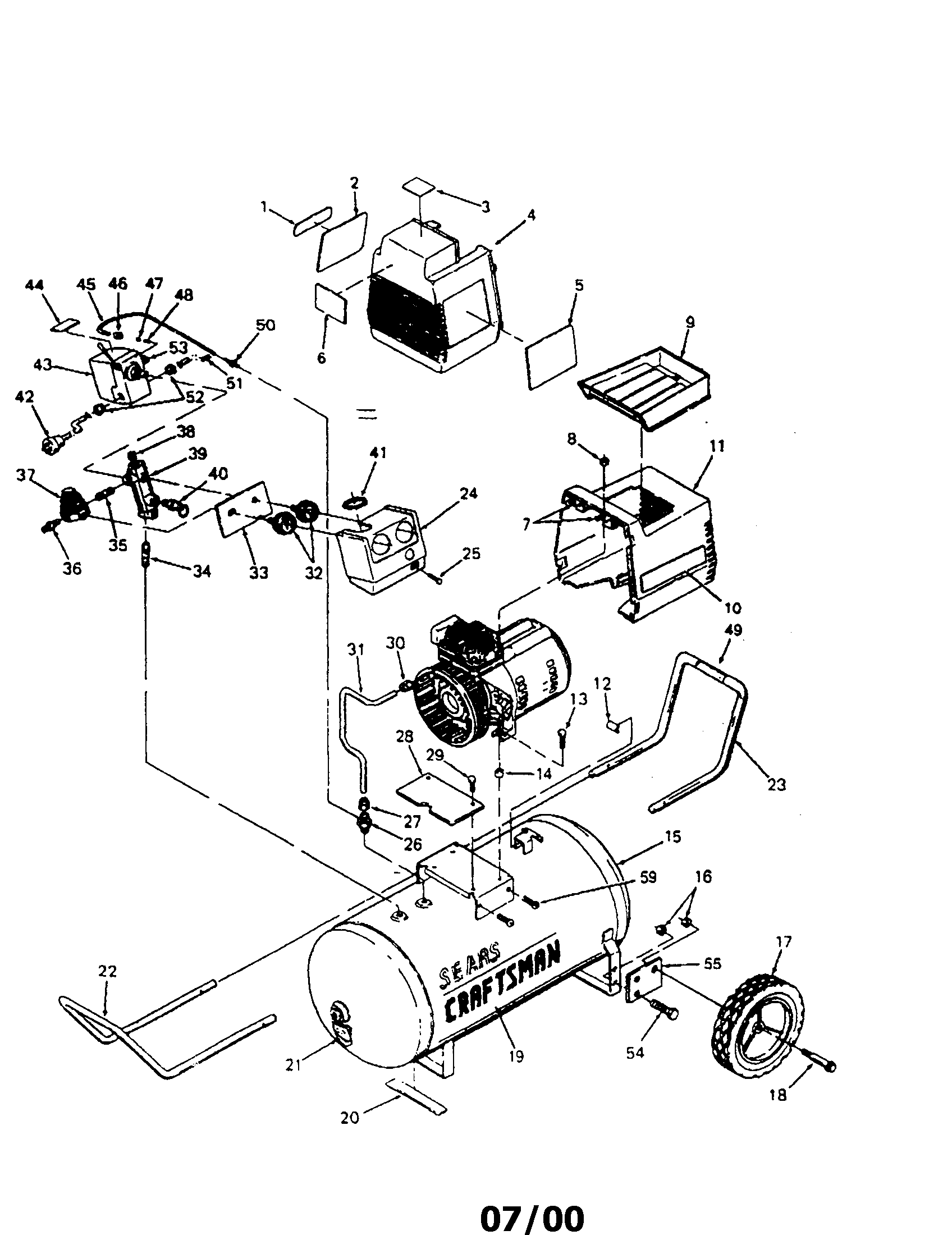 tank pressure switch regulator diagram and parts list for craftsman trinary pressure switch wiring diagram pressure switch wire diagram [ 1696 x 2200 Pixel ]