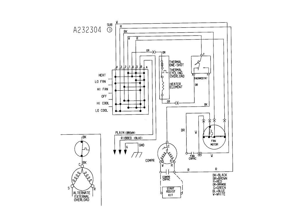 medium resolution of kenmore air conditioner wiring diagram