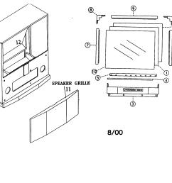 looking for mitsubishi model ws 55805 television repair mitsubishi tv diagram [ 2200 x 1696 Pixel ]