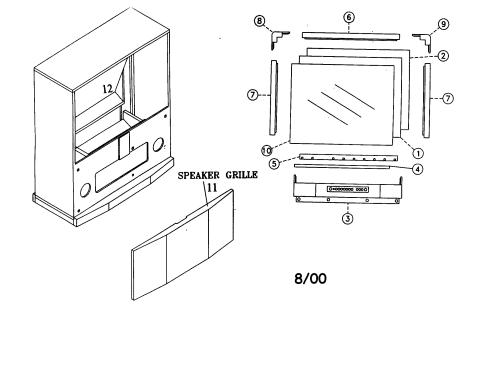 small resolution of looking for mitsubishi model ws 55805 television repair mitsubishi tv diagram