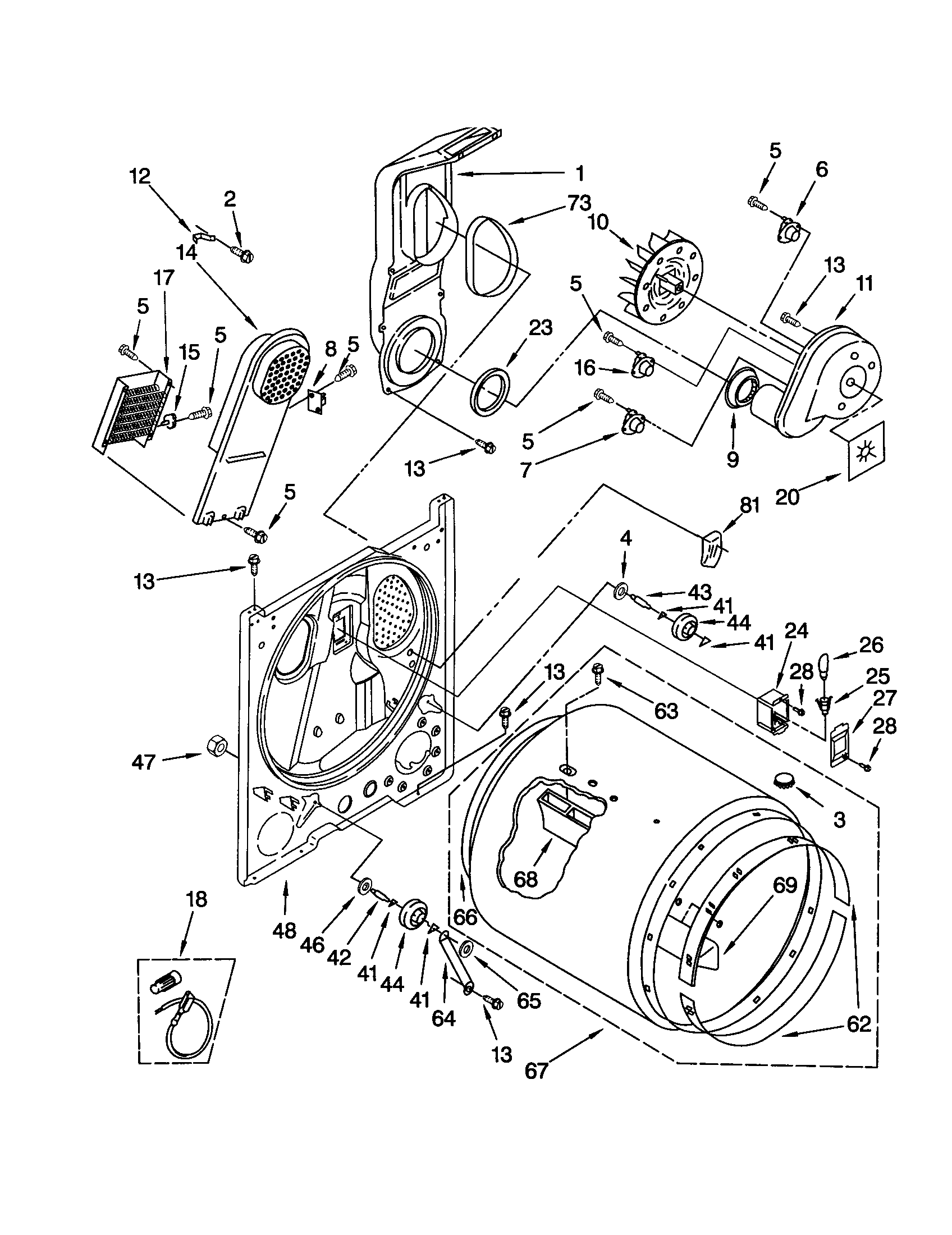 Heater Diagram And Parts List For Maytag Dryerparts Model