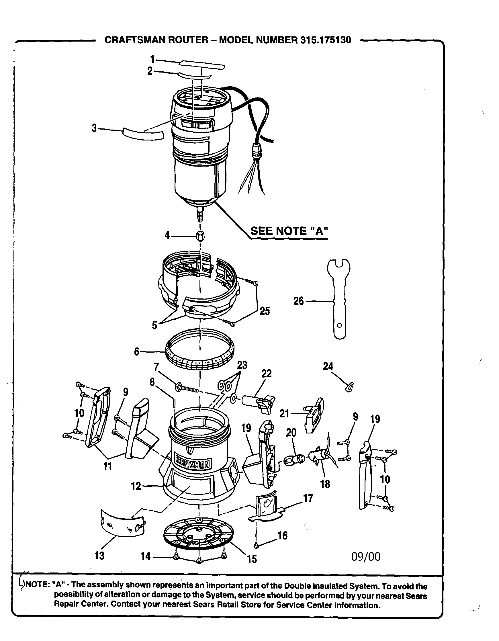 hight resolution of wiring craftsman 315175130 router diagram