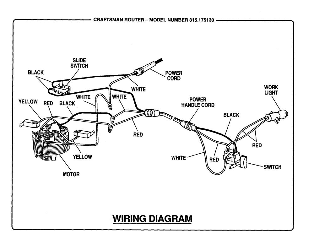 medium resolution of craftsman 315175130 wiring diagram